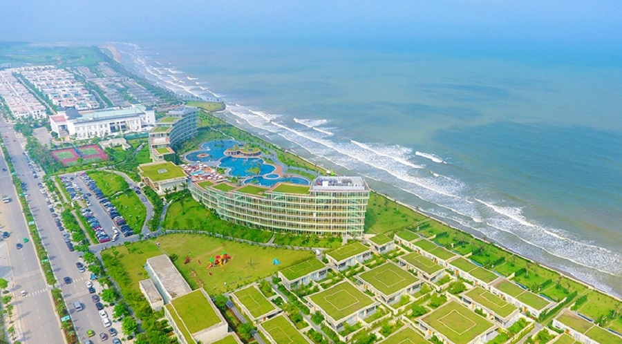 Toàn cảnh FLC Luxury Hotel Sầm Sơn từ trên cao cực đẹp