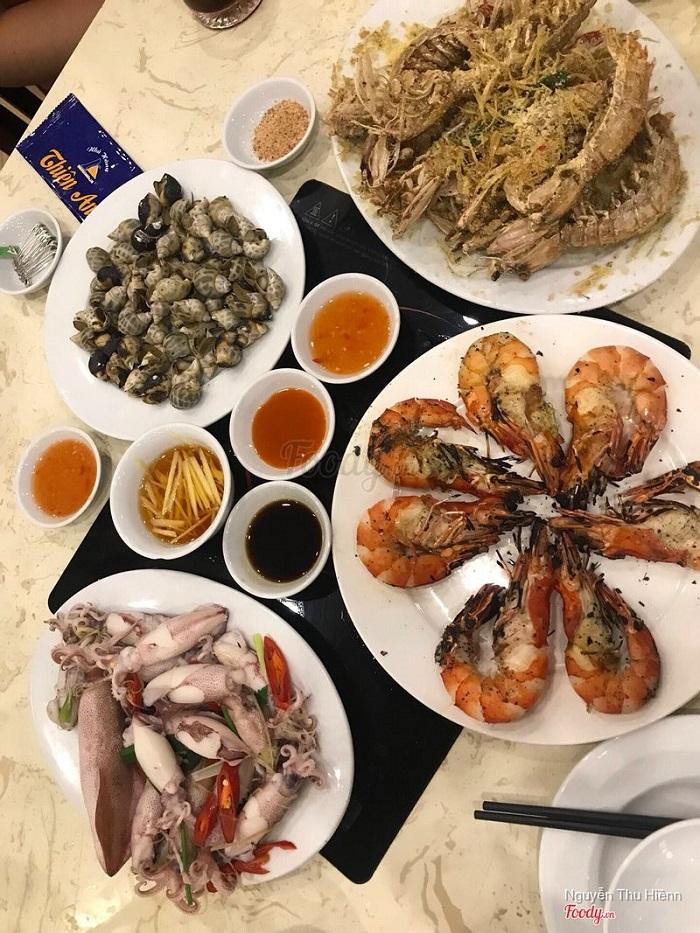 Các món hải sản nổi bật của quán Thiên Anh