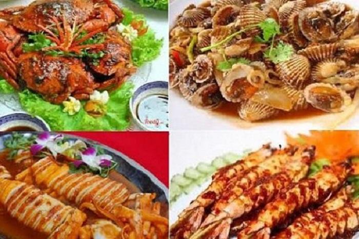 Các món hải sản nổi bật của quán