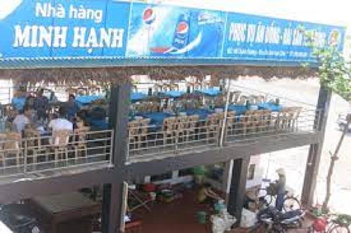 Một góc không gian nhà hàng hải sản Minh Hạnh - Sầm Sơn