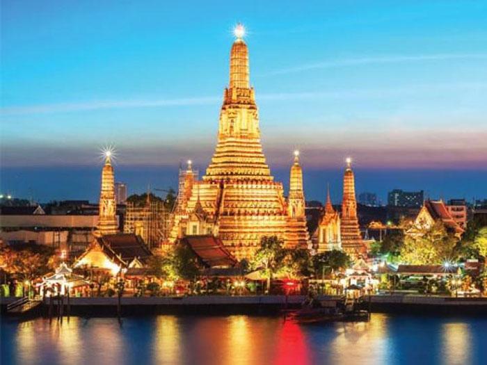 Vẻ đẹp của các điểm tham quan tại Thái Lan khi đêm xuống